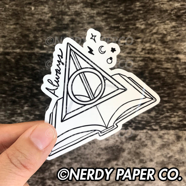 ALWAYS READING - Hand Drawn Wizard Vinyl Sticker