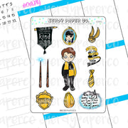 Cedric Sampler | Hand Drawn Wizard Planner Stickers - Deco | CD001