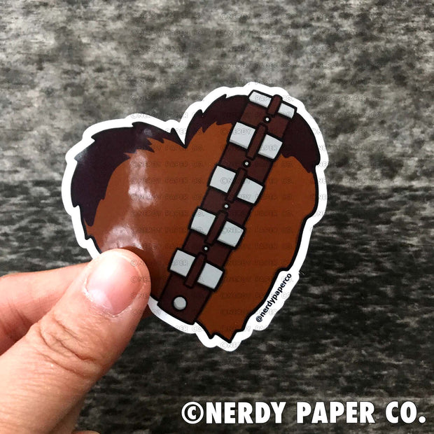 CHEWIE HEART -  Hand Drawn Vinyl Sticker