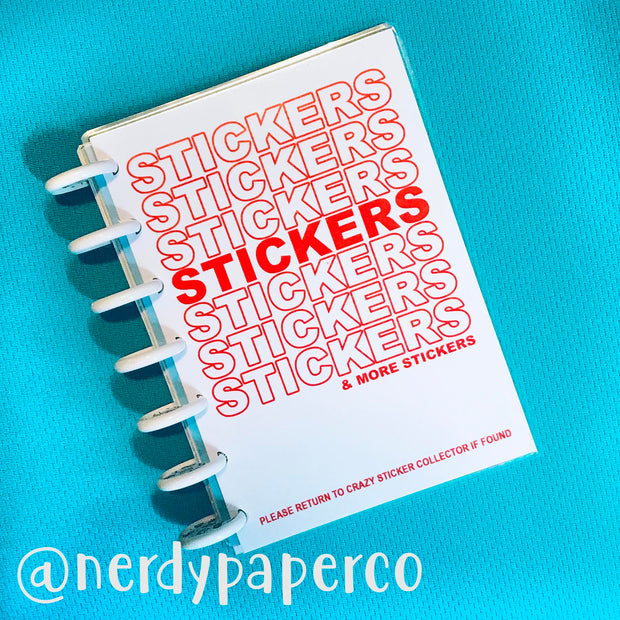 REUSABLE STICKER COLLECTOR BOOK