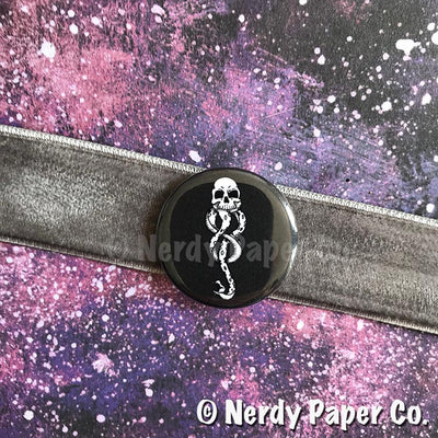 DARKMARK PIN BADGE |  Wizard  | Handmade Pin Badge