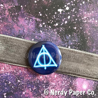 DH PIN BADGE |  Hand Drawn Wizard Art | Handmade Pin Badge