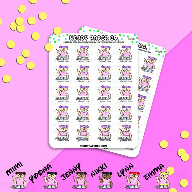 PLANNER TIME - Hand Drawn Planner Stickers - Deco - DS020