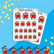 ROAD TRIP! / Hand Drawn Planner Stickers / Deco - DS080