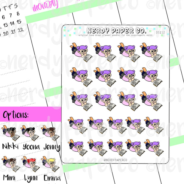KAYLA READS / Hand Drawn Planner Stickers / Deco - DS112