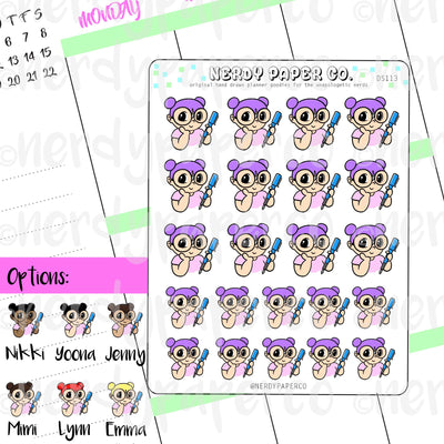 KAYLA + HER PEN / Hand Drawn Planner Stickers / Deco - DS113