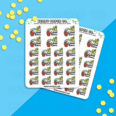 WATER PLANTS - Hand Drawn Planner Stickers - DS262