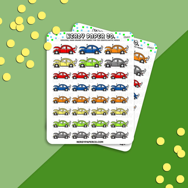 CAR MAINTENANCE- Hand Drawn Planner Stickers - DS457