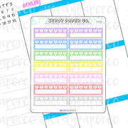 Pixel Weekly Trackers | Hand Drawn Planner Stickers - Deco | FS030