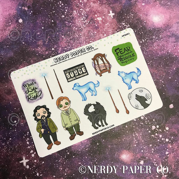 REMUS AND LUPIN | BUDDY SAMPLER - Hand Drawn Wizard Planner Stickers - Deco - HPB001