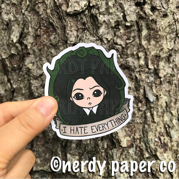 I HATE EVERYTHING - Hand Drawn ADDAMS FAMILY- Inspired Planner Die Cut