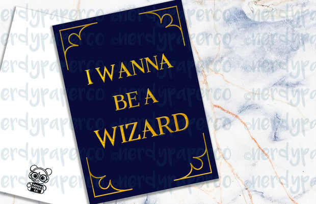I WANNA BE A WIZARD | Hand Drawn Wizard Planner Dashboard