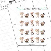 MAGICAL ELF CHORES -  Hand Drawn Wizard  Planner Stickers - Deco | HP010