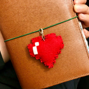 PIXEL HEART - Hand Sewn Planner Charm