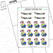 LAUNDRY TIME - Hand Drawn Planner Stickers - Deco | FS006