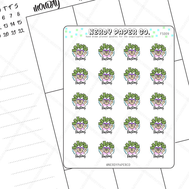 PAY DAY - Hand Drawn Planner Stickers