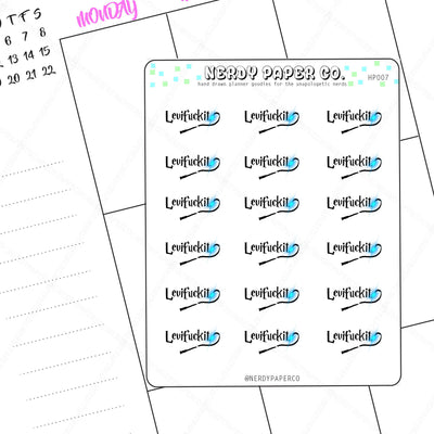 SPELL - EXPLICIT STICKERS - Hand Drawn Wizard Planner Stickers - Deco | hp007