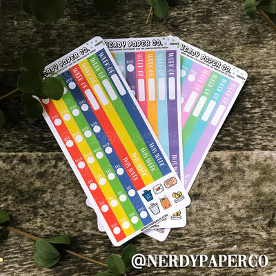 HOBO WEEKS RE DATE KIT - Hand Drawn Planner Stickers - HW002-PK