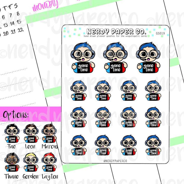Gamer Couple Pack - Hand Drawn Planner sticker and Die Cuts