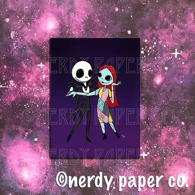 JACK + SALLY |  NIGHTMARE B4 XMAS- INSPIRED  | Art Print- AP005