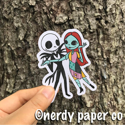 JACK + SALLY - Hand Drawn NIGHTMARE B4 XMAS- Inspired Planner Die Cut