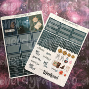 P. DRIVE MINI KIT - Hand Drawn Wizard Planner Stickers | MK001