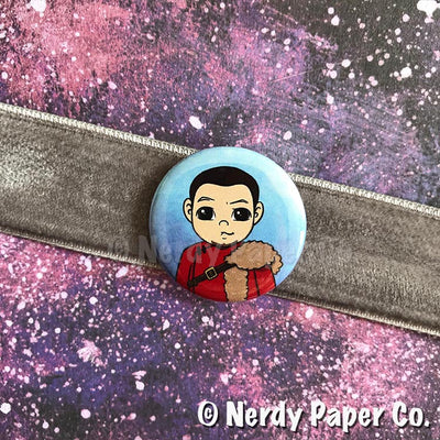 KRUM PIN BADGE |  Wizard  | Handmade Pin Badge