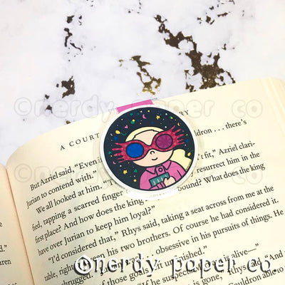 QUIRKY WITCH  | Hand Drawn Laminated Magnetic Bookmark- MB004