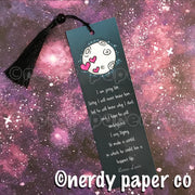 LUPIN QUOTE BOOKMARK | Hand Drawn Wizard Beaded Bookmark