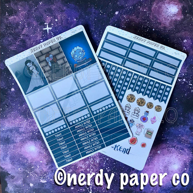GHOSTS MINI KIT - Hand Drawn Wizard Planner Stickers | MK004