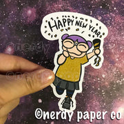 NEW YEARS KAYLA-  Hand Drawn Inspired  Planner Die Cut