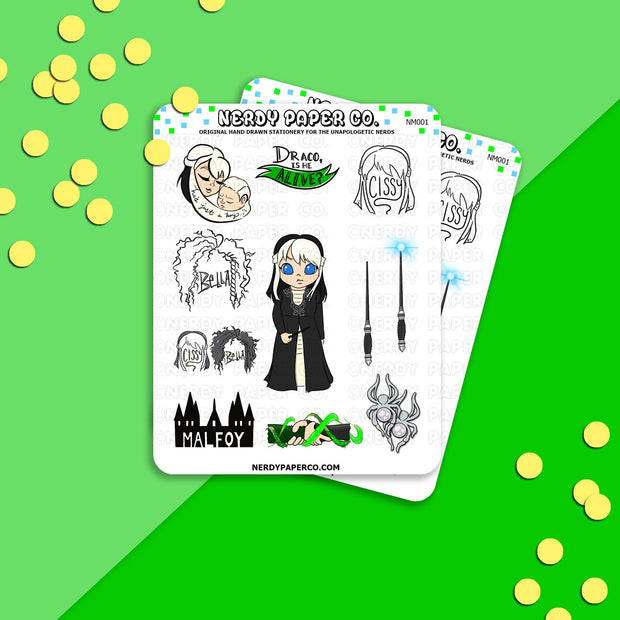 Cissy Sampler - Hand Drawn Wizard Planner Stickers - Deco - NM001