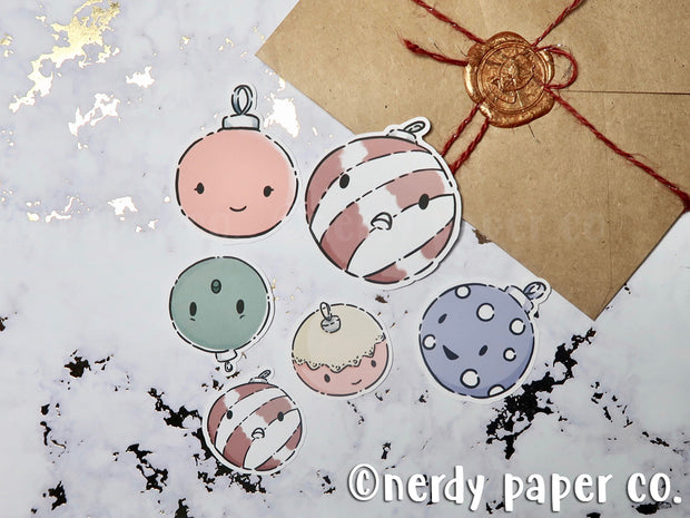 VINTAGE KAWAII ORNAMENT STICKER PACK - Hand Drawn Stickers