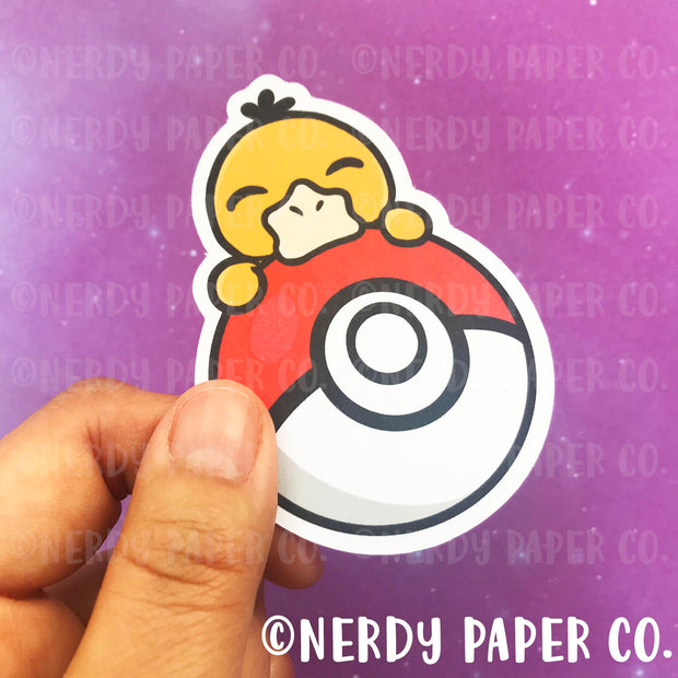PEEKING PSYDUCK - Hand Drawn Die Cut