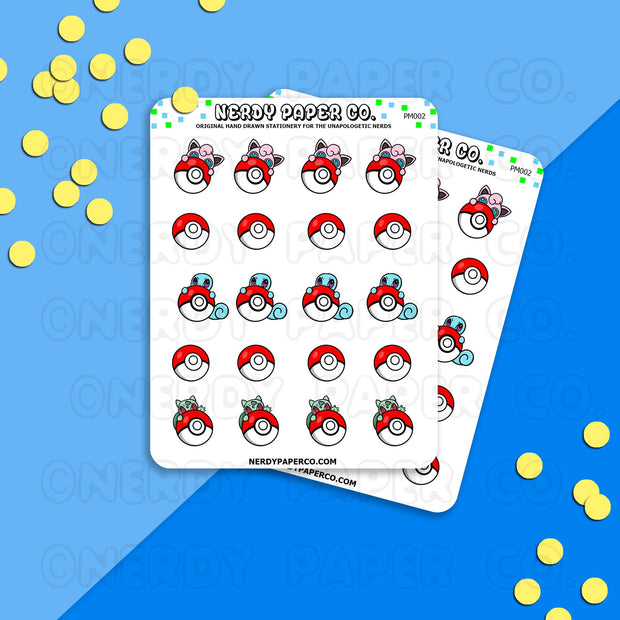 PEEKING POKEMON - Hand Drawn Planner Stickers Deco | PM002