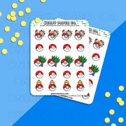 PEEKING POKEMON - Hand Drawn Planner Stickers Deco | PM003