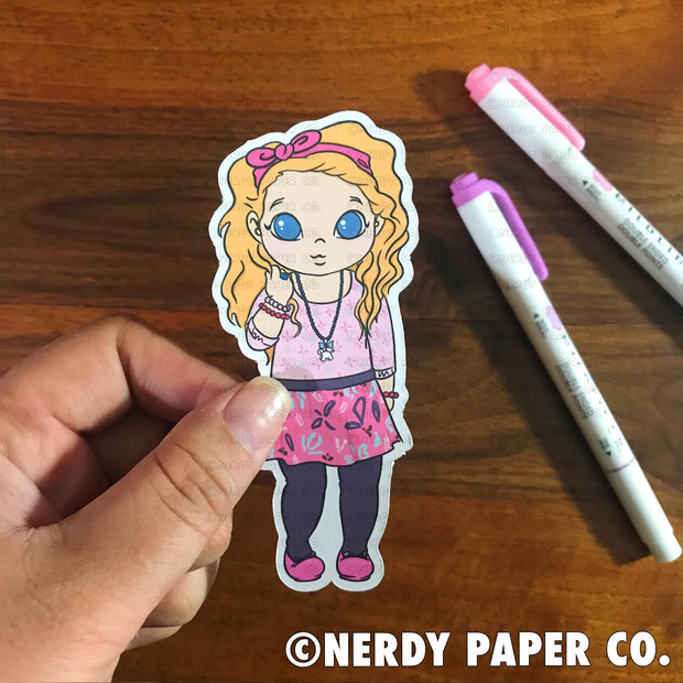 ROMANTIC WITCH - Hand Drawn Wizard Planner Die Cut Chibi