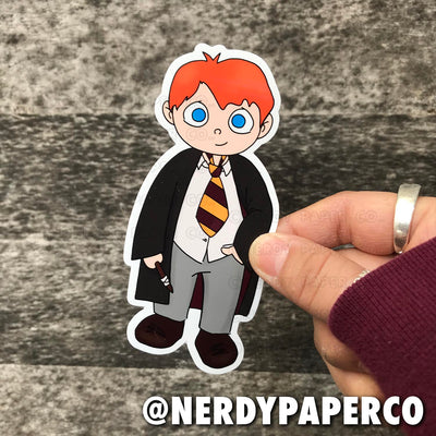 RON |  Hand Drawn Wizard  Vinyl Sticker