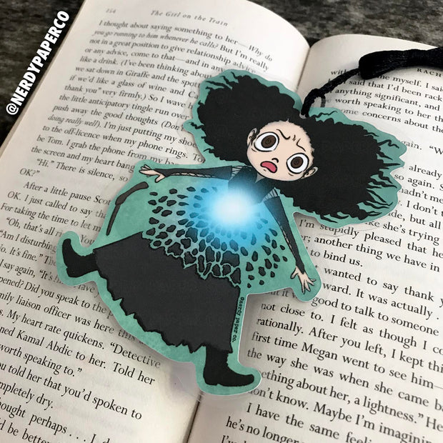 SHOCK'N TRIXIE BOOKMARK | Hand Drawn Wizard Beaded Bookmark