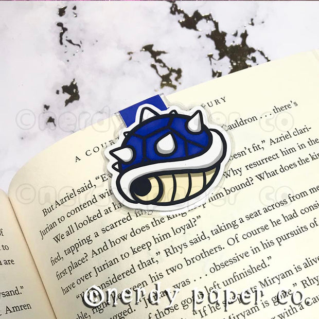SPINY SHELL | Hand Drawn Laminated Magnetic Bookmark- MB003