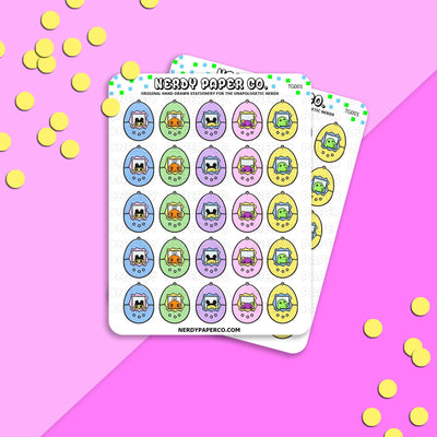 TAMAGOTCHI LOVE - Hand Drawn Planner Stickers - Deco -TG001