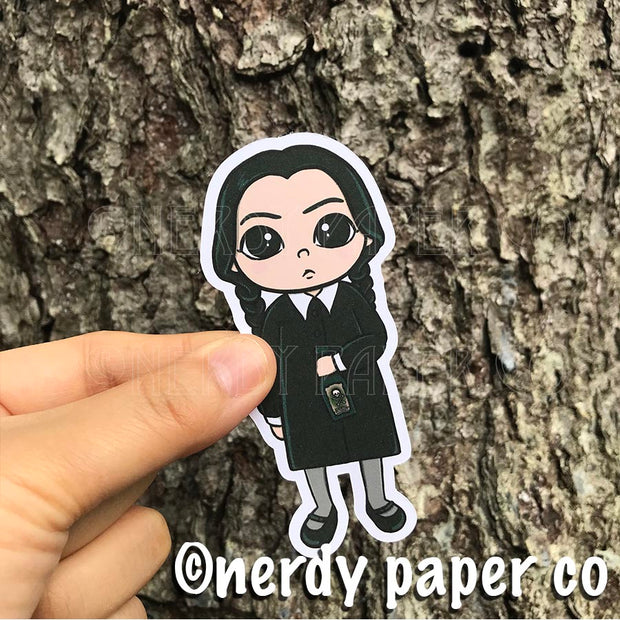 WEDNESDAY ADDAMS - Hand Drawn ADDAMS FAMILY- Inspired Planner Die Cut