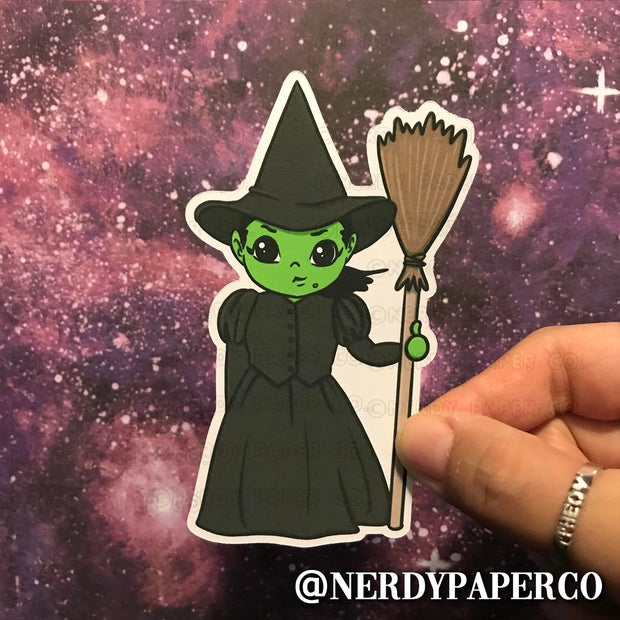 WICKED WITCH - Hand Drawn Planner Die Cut - Chibi