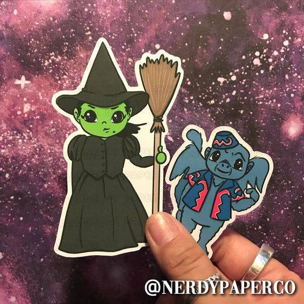 THE WICKED WITCH BUNDLE - Hand Drawn Planner Die Cut - Chibi