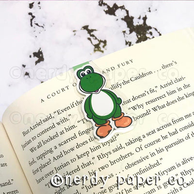 YOSHI | Hand Drawn Laminated Magnetic Bookmark- MB001
