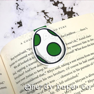 Y0SHI EGG| Hand Drawn Laminated Magnetic Bookmark- MB002