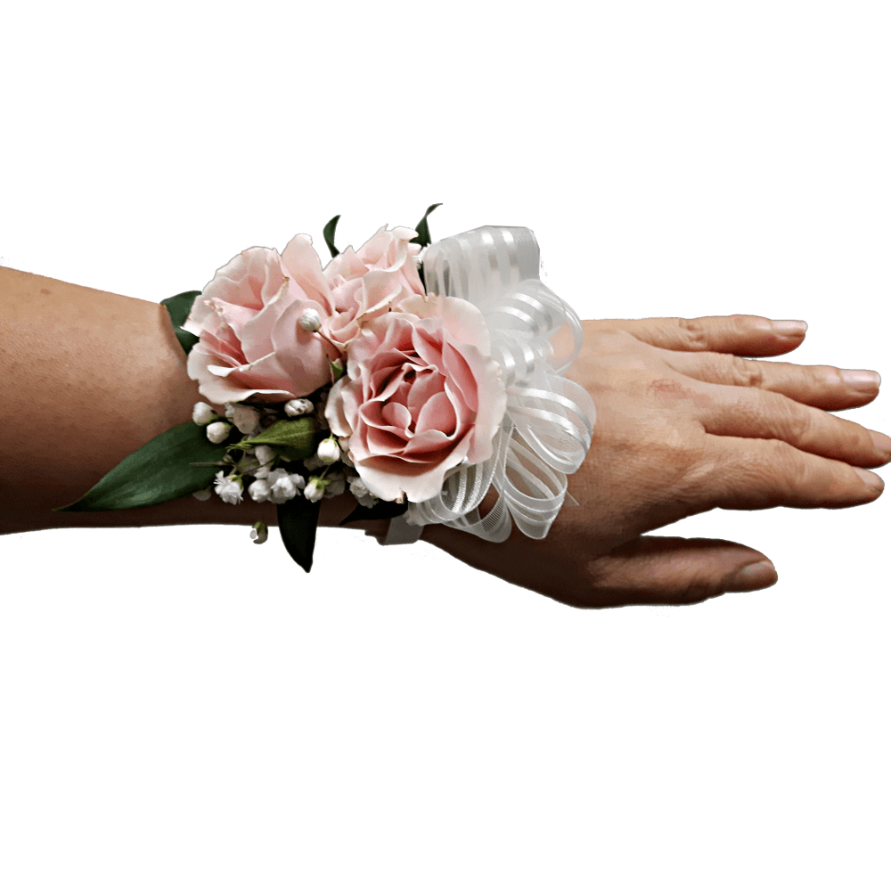 Pink Spray Rose Wristlet