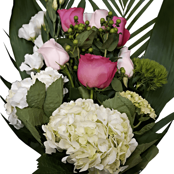 Classic White Pink Bouquet