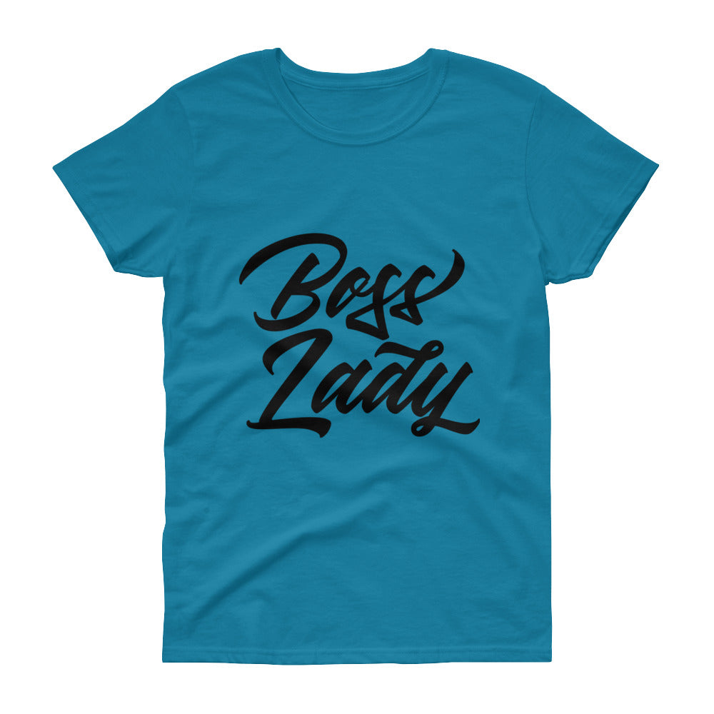 "Women's short sleeve t-shirt ""Boss Lady"""
