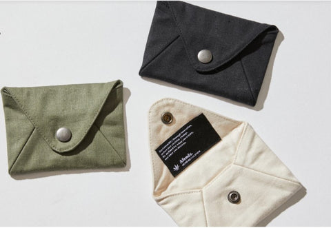 AFENDS Holdall Hemp Twill Pouch Wallet